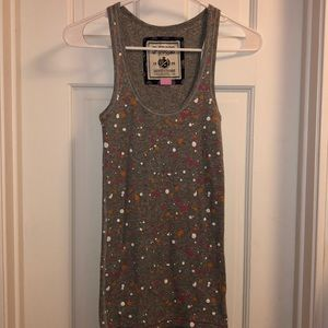 PINK Victoria's Secret Paint Speckled Ribbed Tank